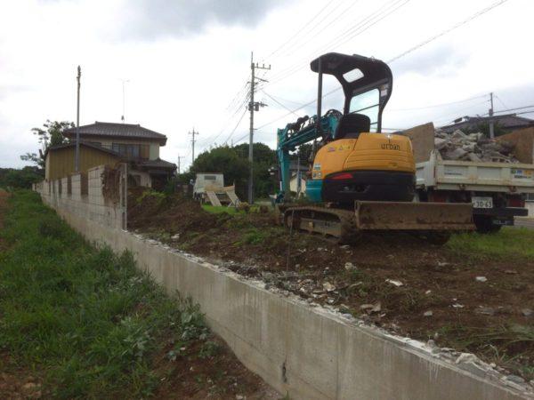 常総市 ブロック塀 解体工事