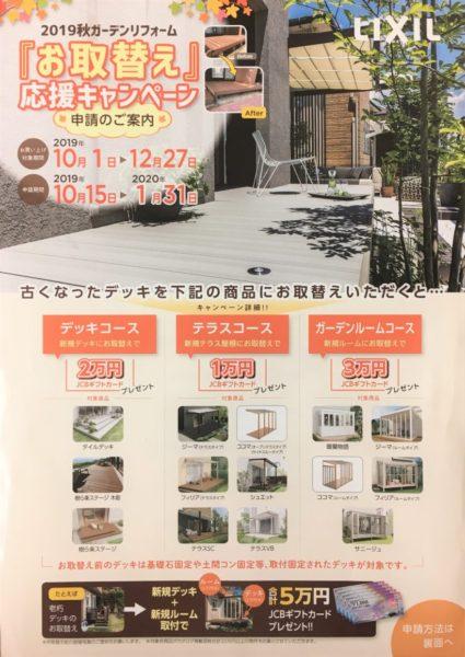 リクシル ガーデンリフォームお取替えキャンペーン