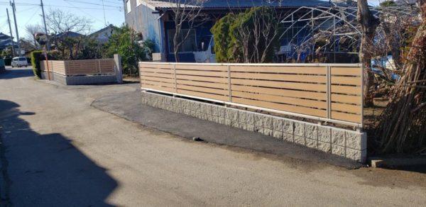 塀のリフォーム工事 稲敷市